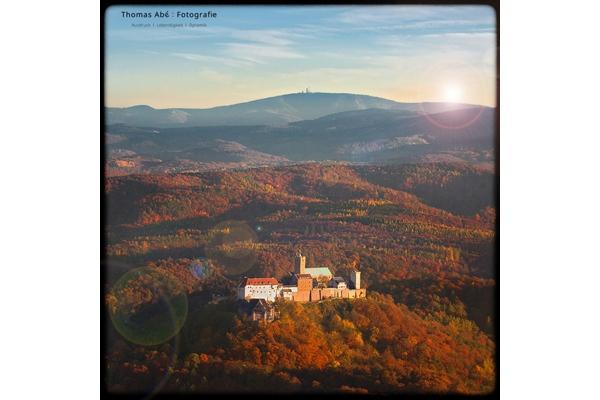 Das Luftbild von der Wartburg